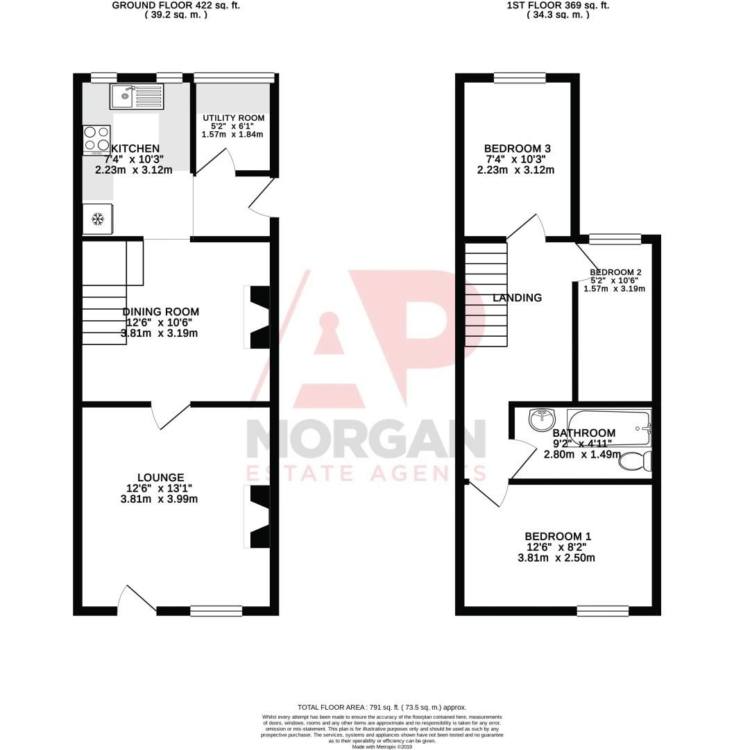 3 bed house for sale in New Road - Property Floorplan