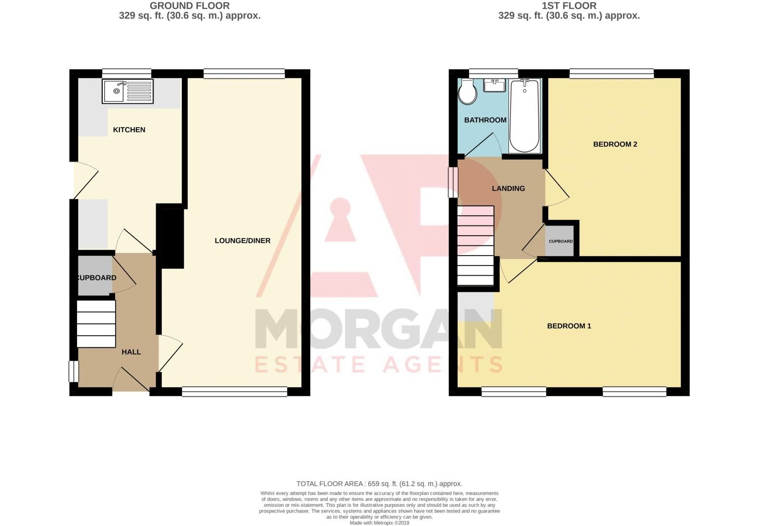 2 bed house for sale in St. Richards Road - Property Floorplan