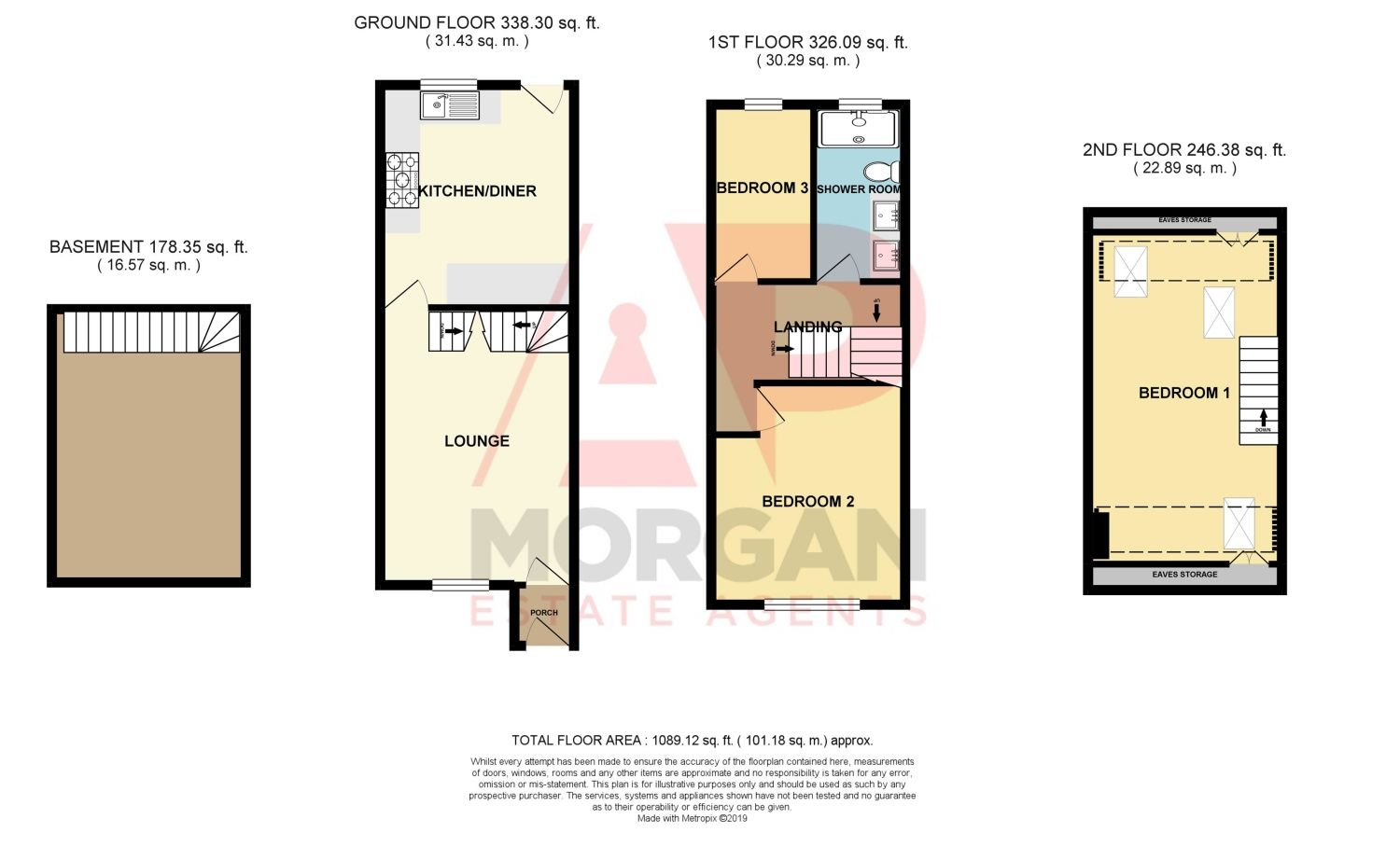 2 bed terraced for sale in Hall Street, Oldswinford - Property Floorplan