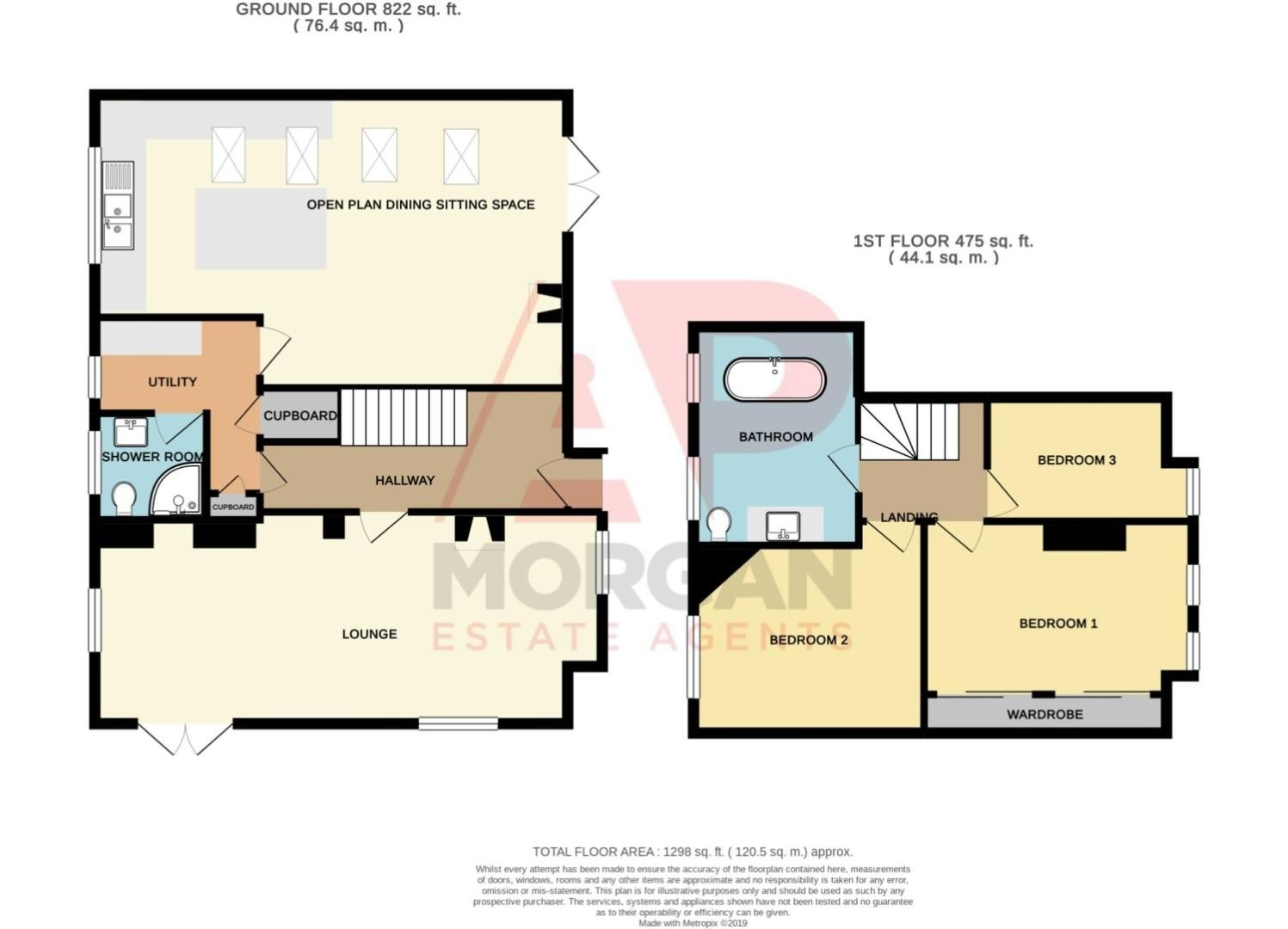 3 bed detached for sale in Longhope Close, Winyates Green - Property Floorplan