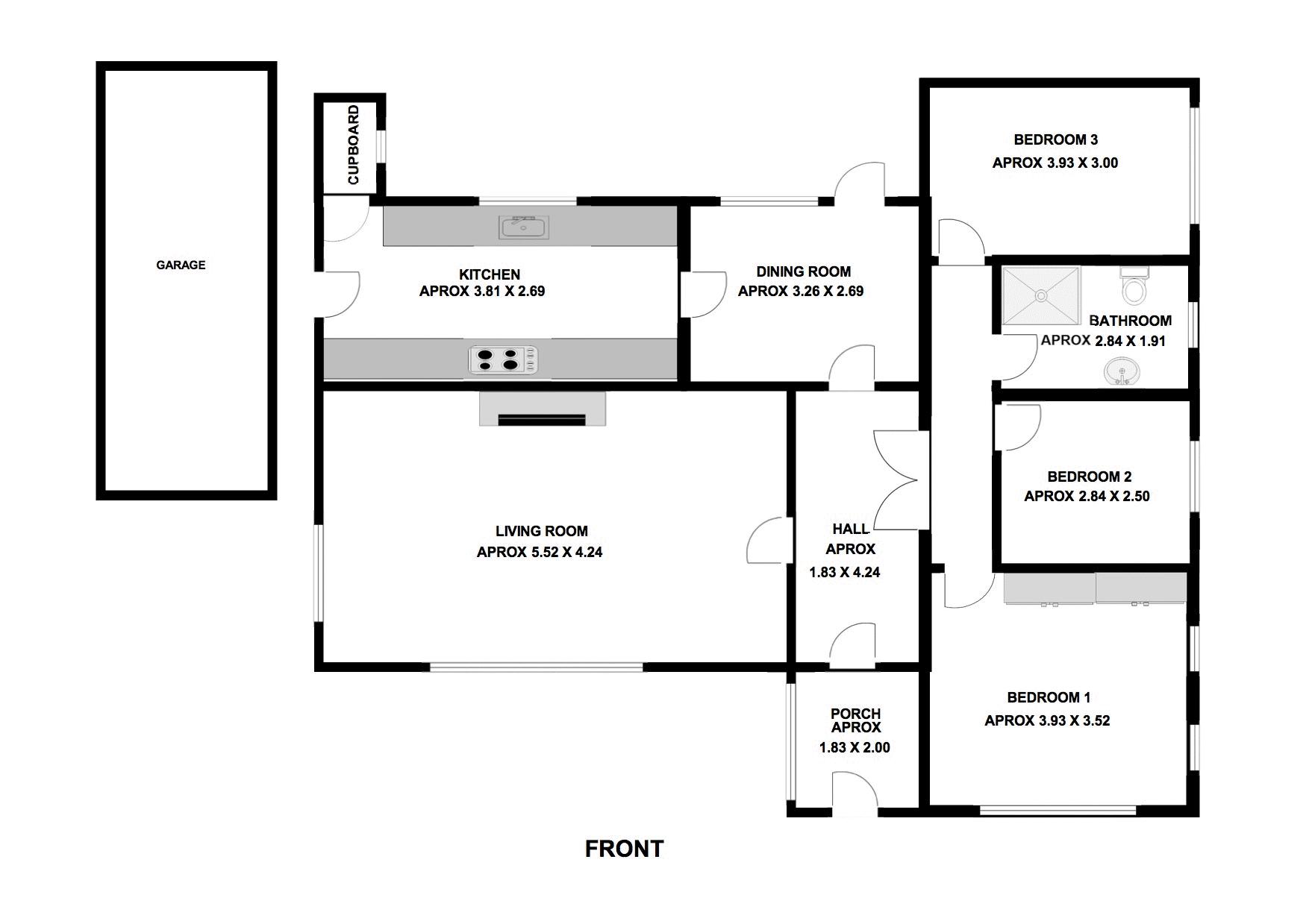 3 bed Bungalow for sale in Thurnscoe Road - Property Floorplan