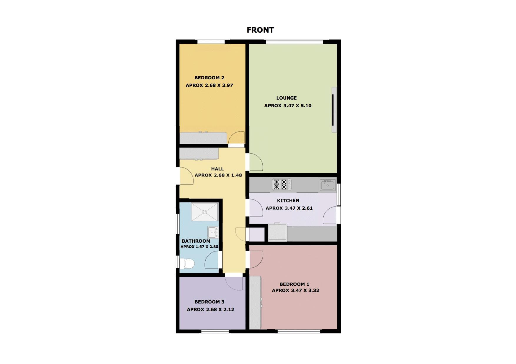 3 bed Bungalow for sale in Poplar Close - Property Floorplan