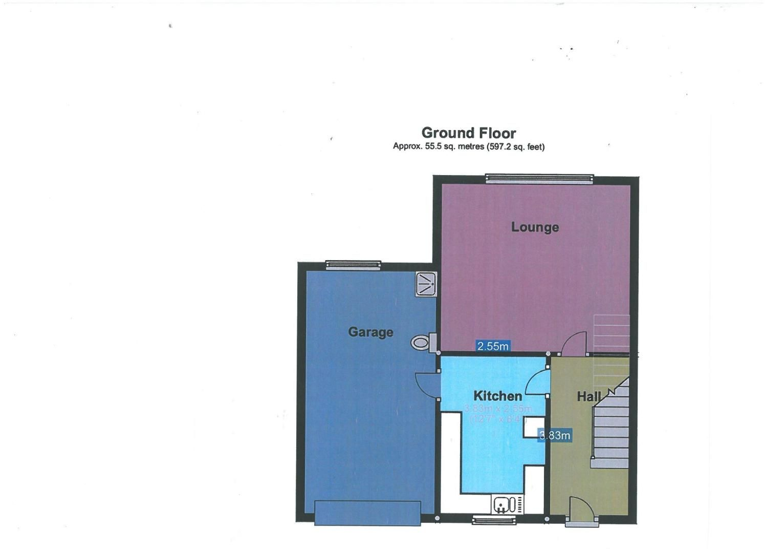 3 bed house for sale in Cross Close - Property Floorplan
