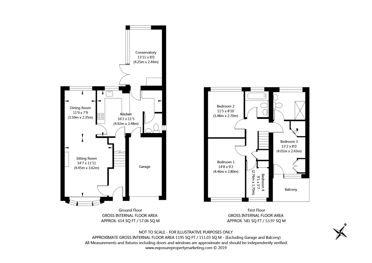 4 bed house for sale in Sawyers Crescent, Copmanthorpe, York - Property Floorplan