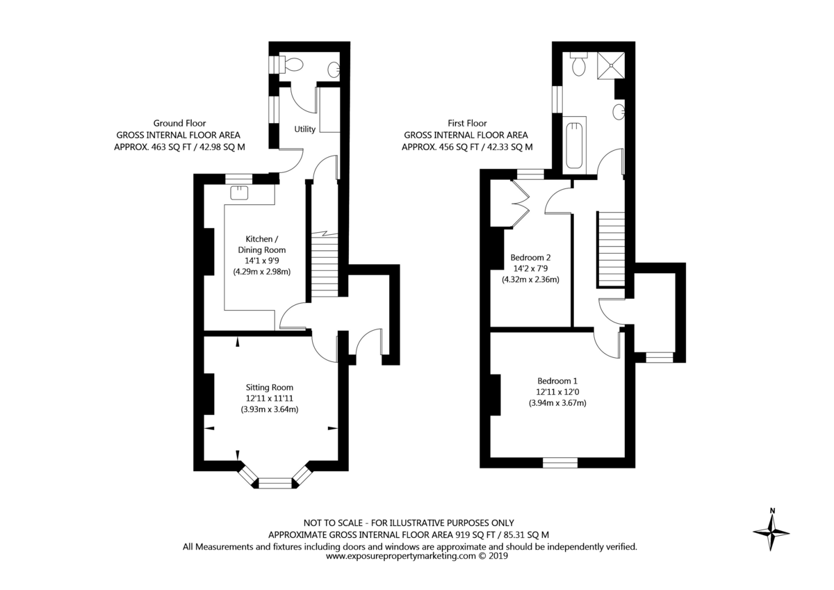 2 bed house for sale in Station Road, Haxby - Property Floorplan