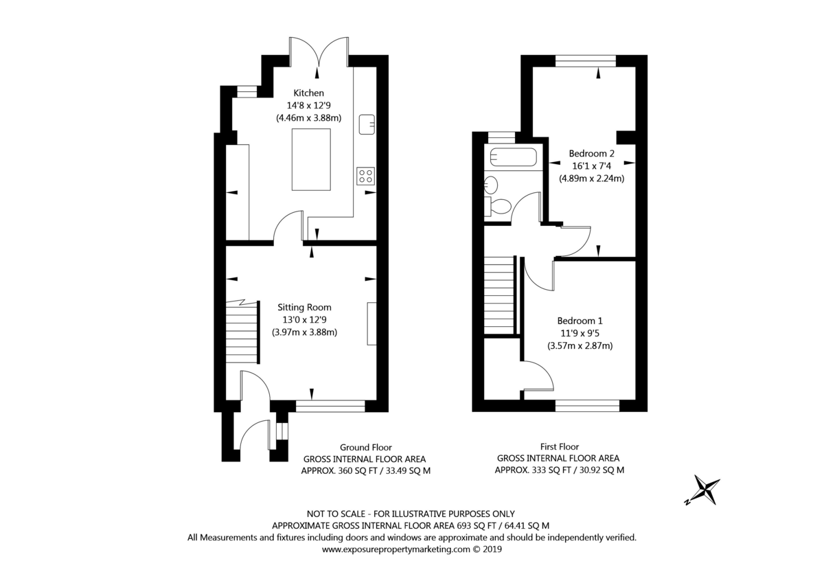 2 bed house for sale in Barons Crescent, Copmanthorpe - Property Floorplan