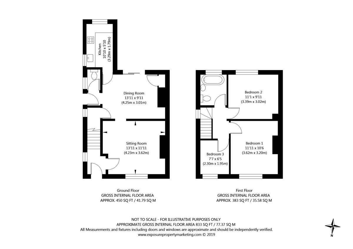 3 bed house for sale in Auster Bank Crescent, Tadcaster - Property Floorplan