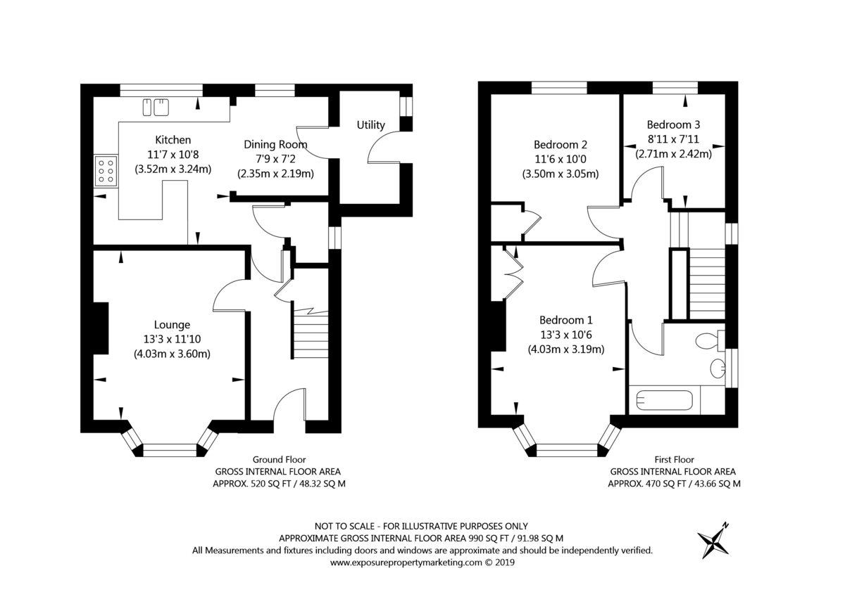 3 bed house for sale in St. Stephens Road, York - Property Floorplan