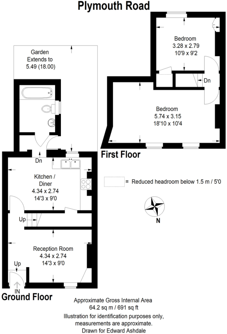 2 bed House to rent on Plymouth Road, Bromley - Property Floorplan