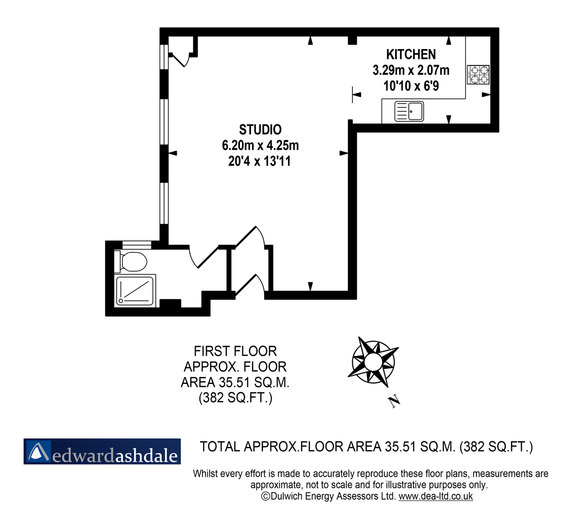 Flat to rent in Norwood Road, Tulse Hill - Property Floorplan
