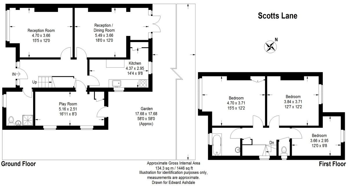 3 bed house to rent in Scotts Lane, Bromley - Property Floorplan