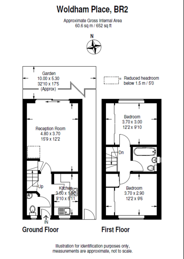 2 bed House to rent on Woldham Place, Bromley - Property Floorplan