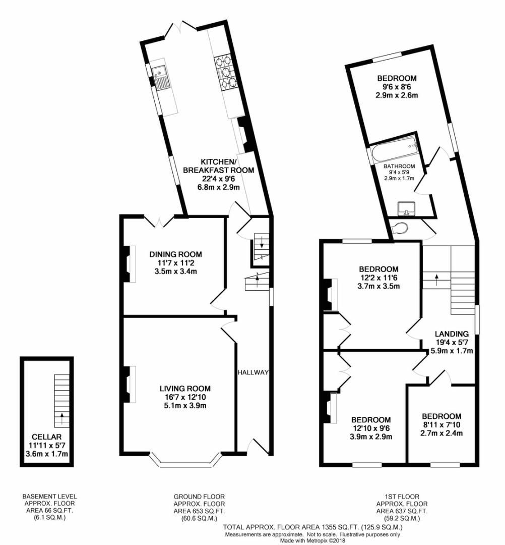 4 bed House to rent on Lampmead Road, London - Property Floorplan