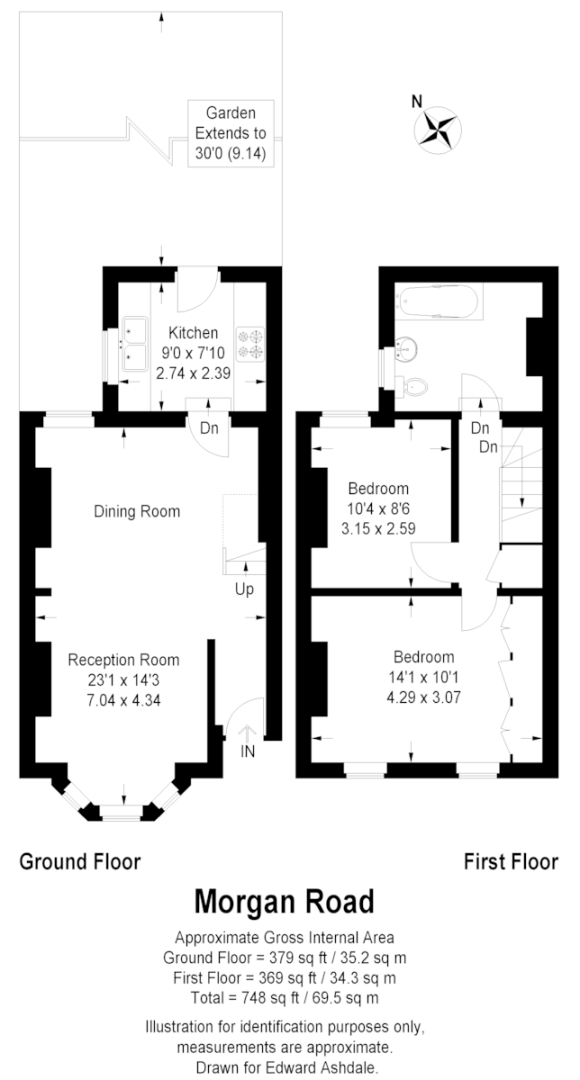 2 bed House for sale on Morgan Road, Bromley - Property Floorplan