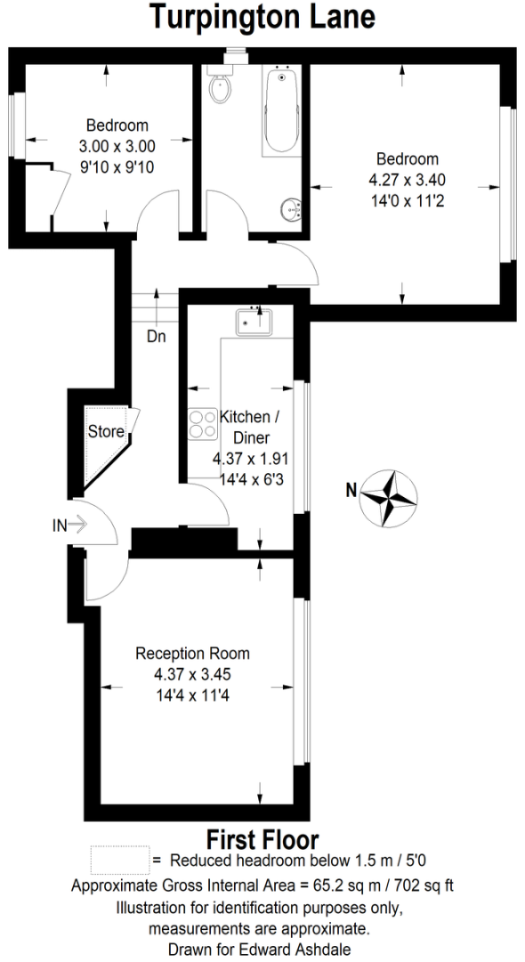 2 bed flat for sale in Turpington Lane, Bromley - Property Floorplan