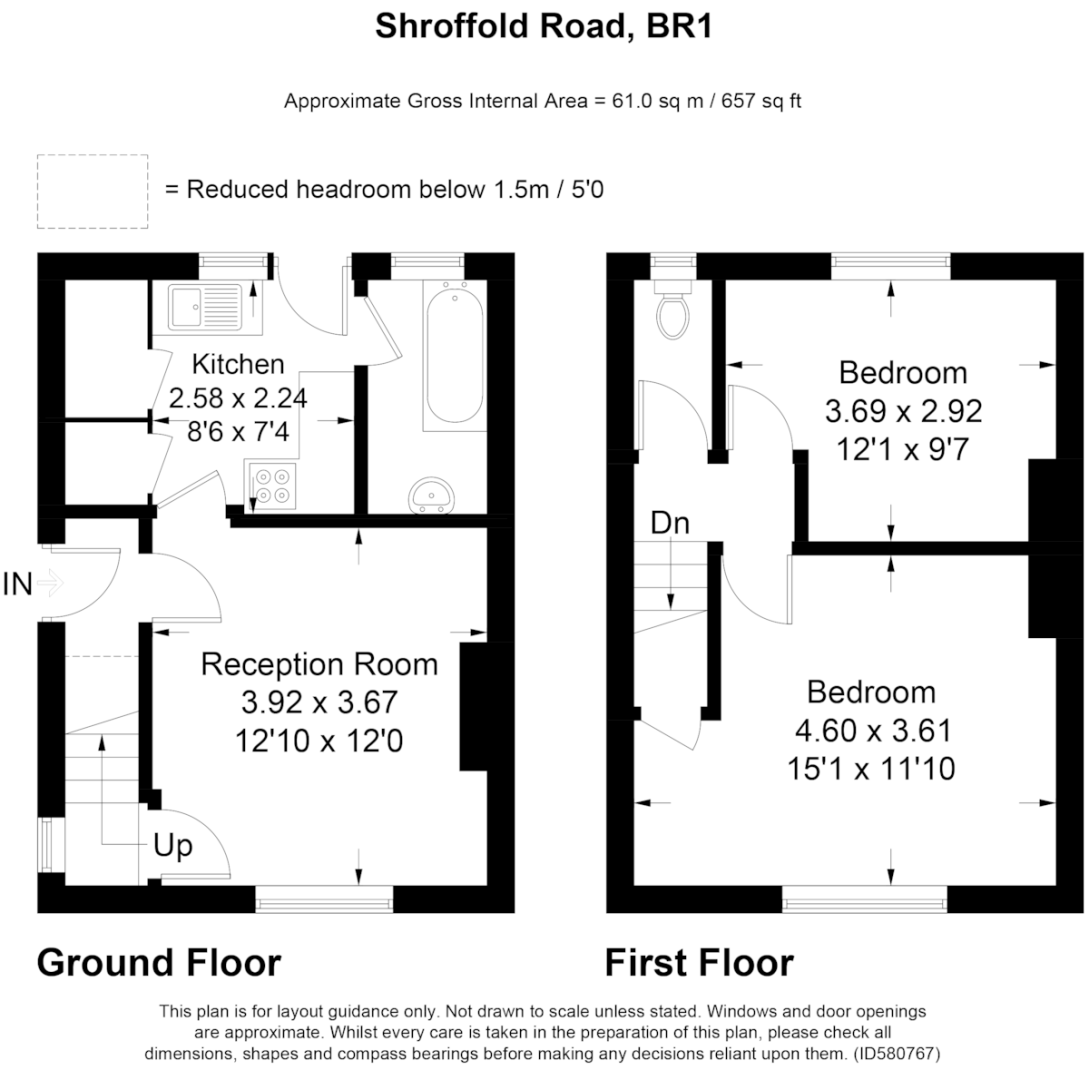 2 bed house for sale in Shroffold Road, Bromley - Property Floorplan