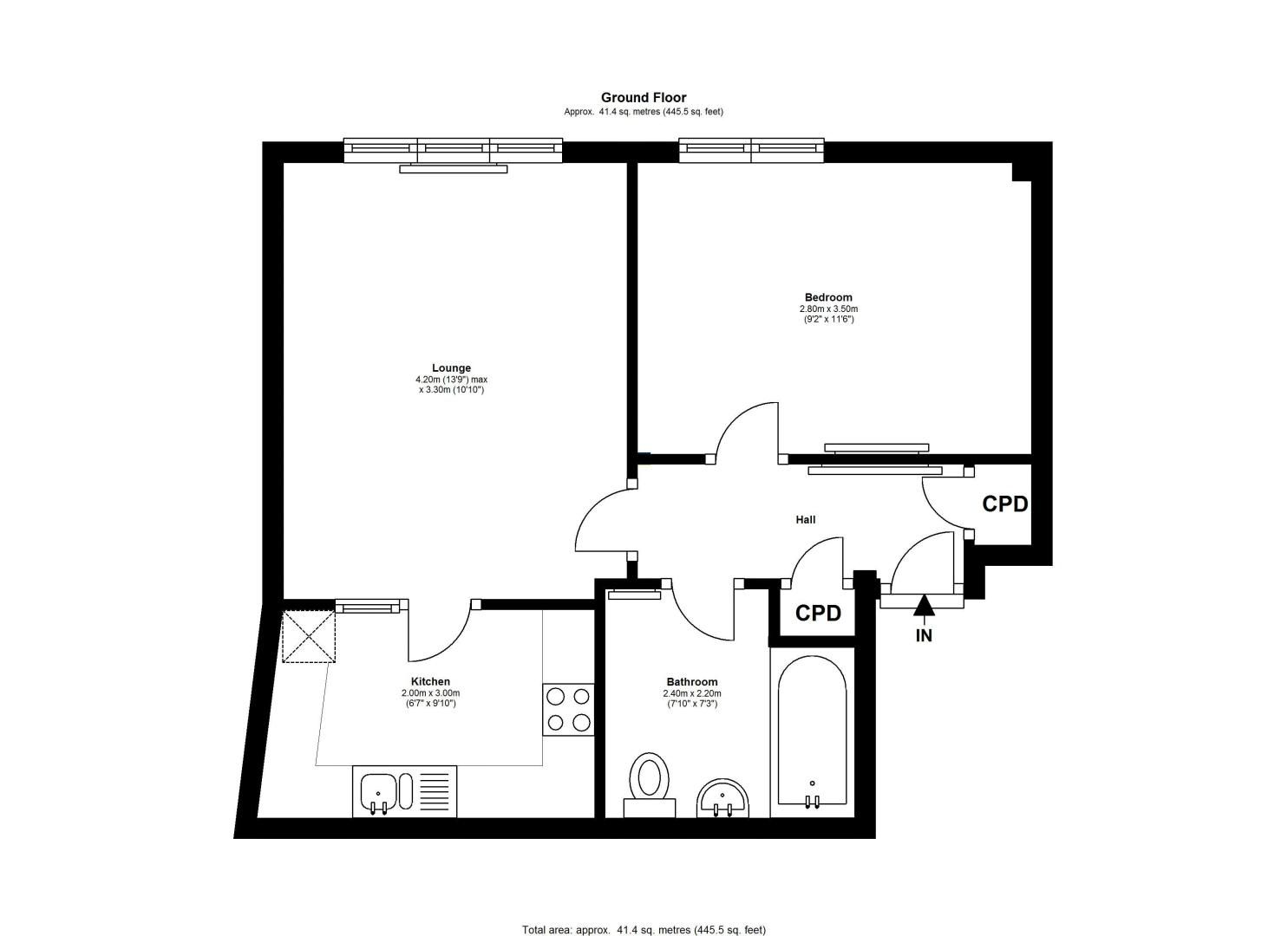 1 bed flat to rent in High Street - Property Floorplan