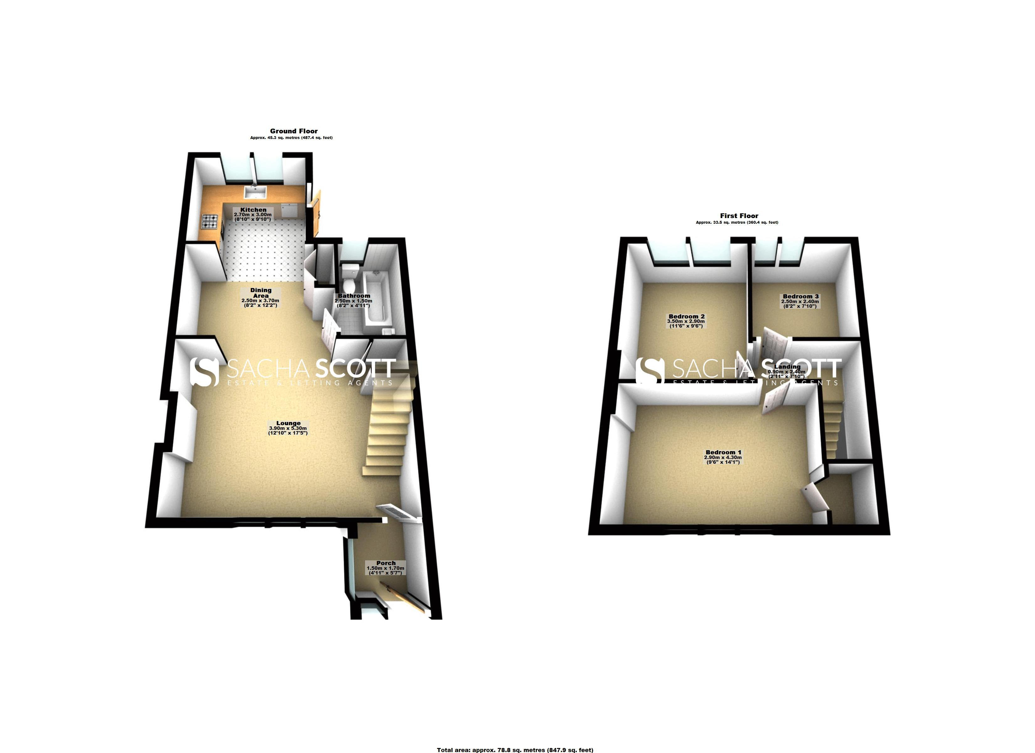 3 bed house to rent in Charter Road - Property Floorplan