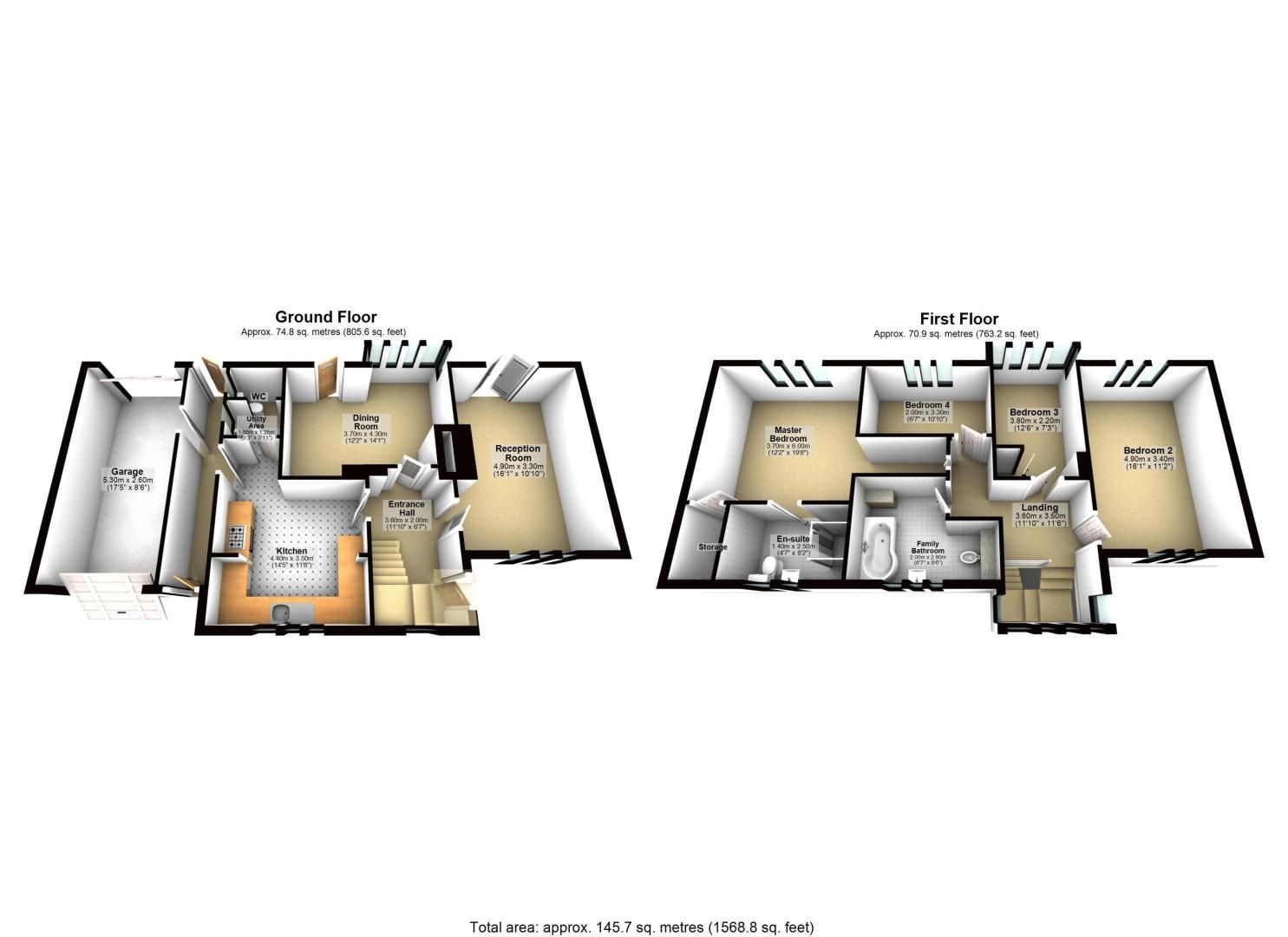 4 bed house for sale in Green Curve - Property Floorplan