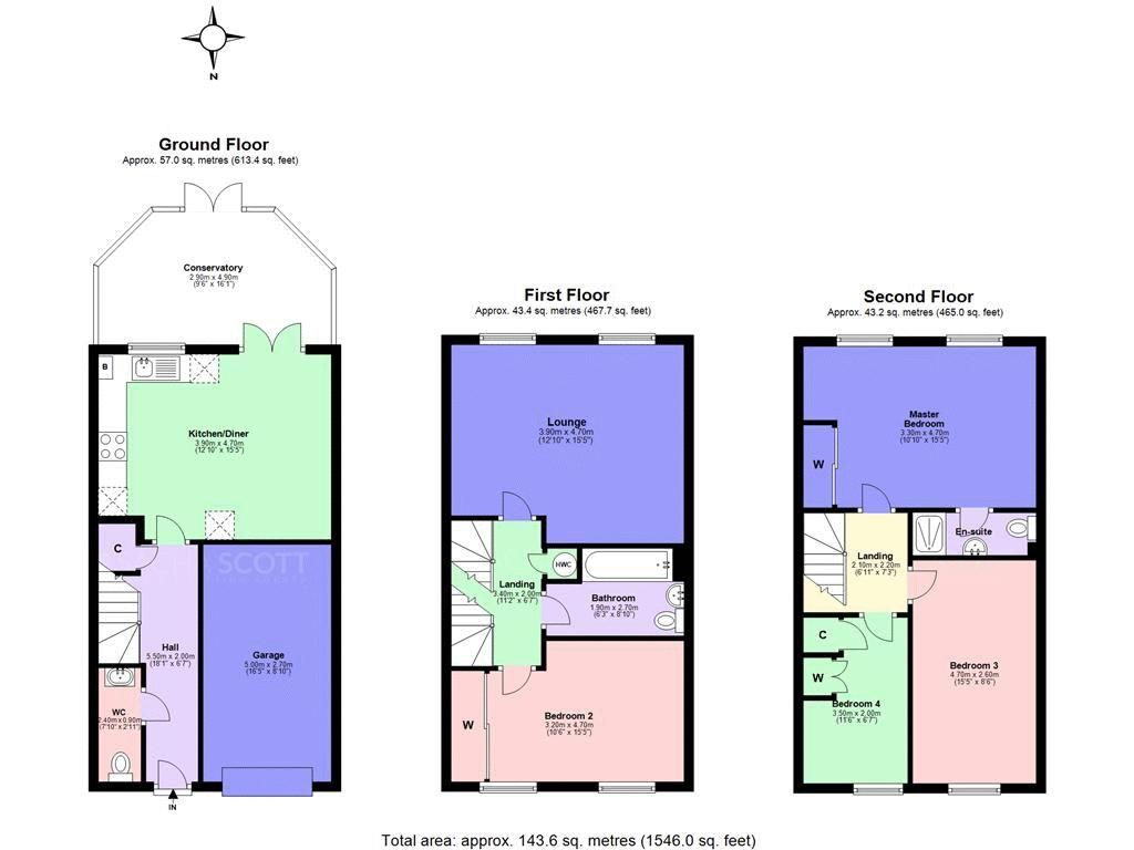 4 bed house for sale in Greenacres - Property Floorplan