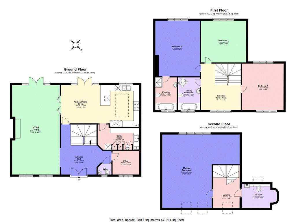 4 bed house for sale in Nork Way - Property Floorplan