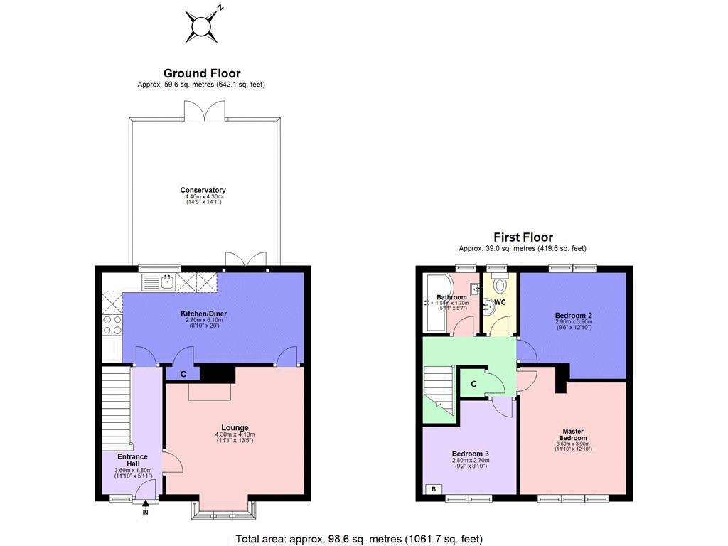 3 bed house for sale in Gale Crescent - Property Floorplan
