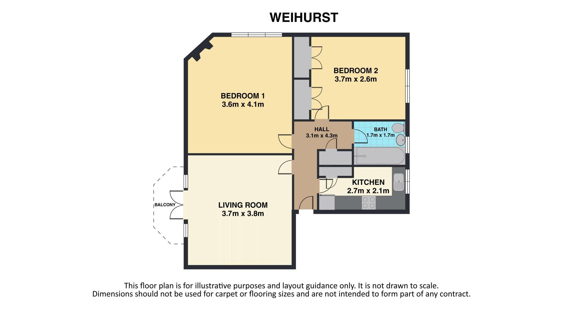 2 bed flat for sale in Carshalton Road - Property Floorplan
