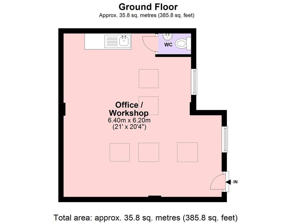 to rent in Nork Way - Property Floorplan