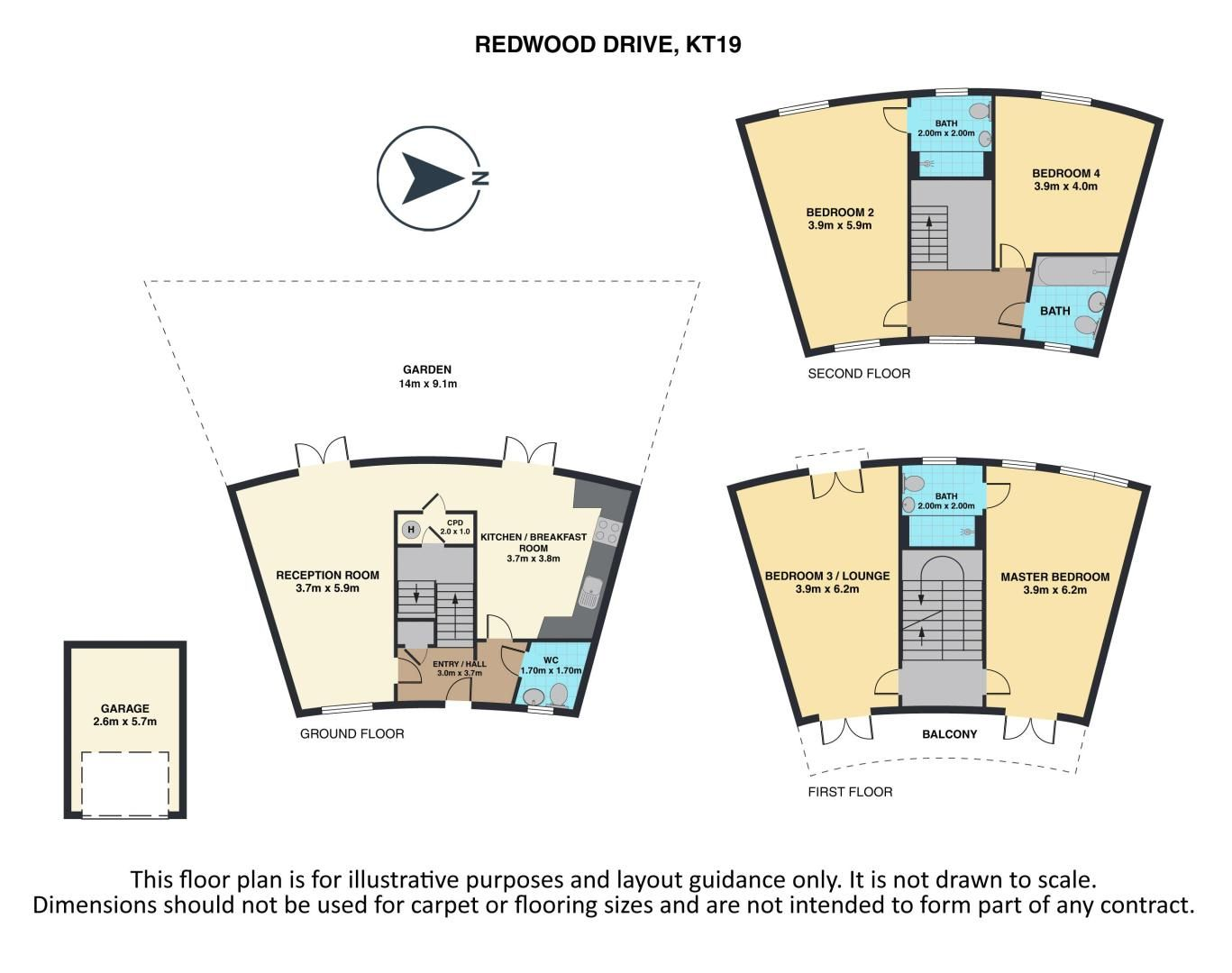 4 bed house for sale in Redwood Drive - Property Floorplan