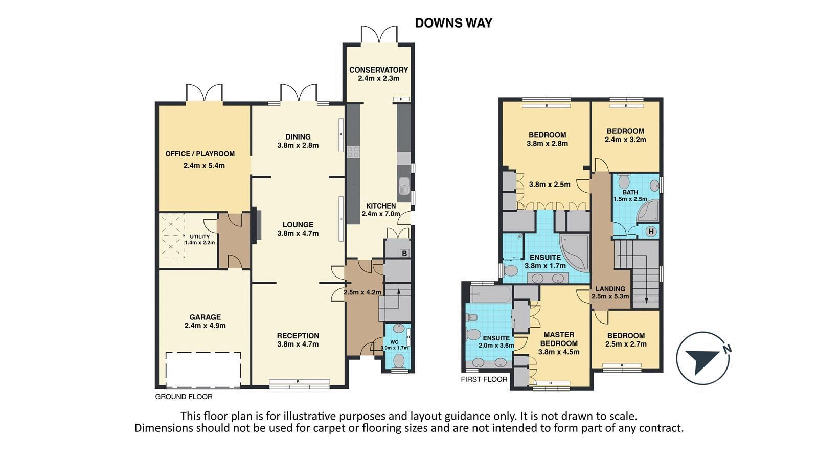 4 bed house for sale in Downs Way Close - Property Floorplan