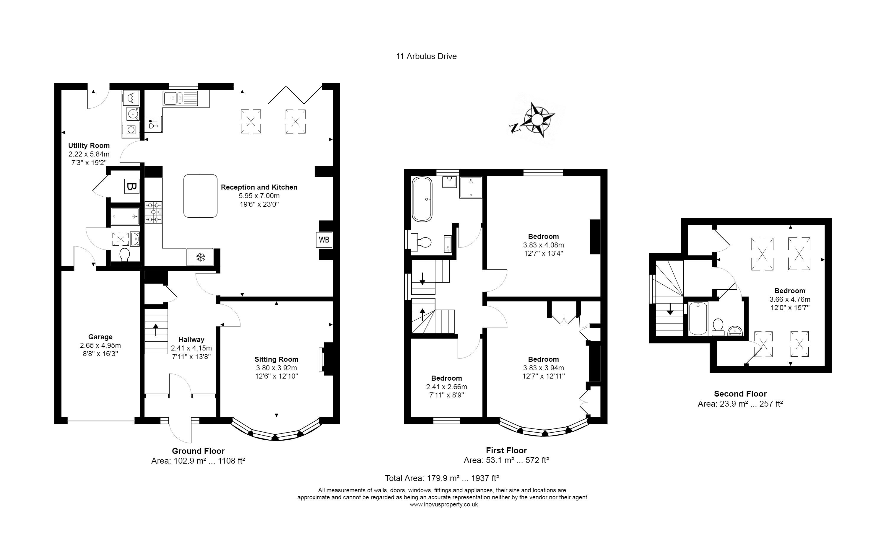 Floorplan for the property 4 bed House for sale on Arbutus Drive - 1