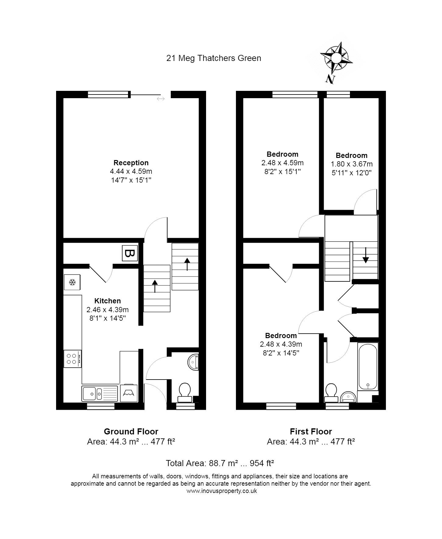 Floorplan for the property 3 bed House for sale on Meg Thatchers Green - 1