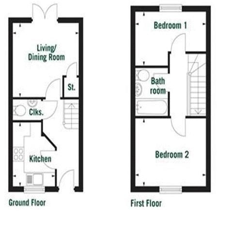 2 bed House to rent on South Petherton, Somerset - Property Floorplan