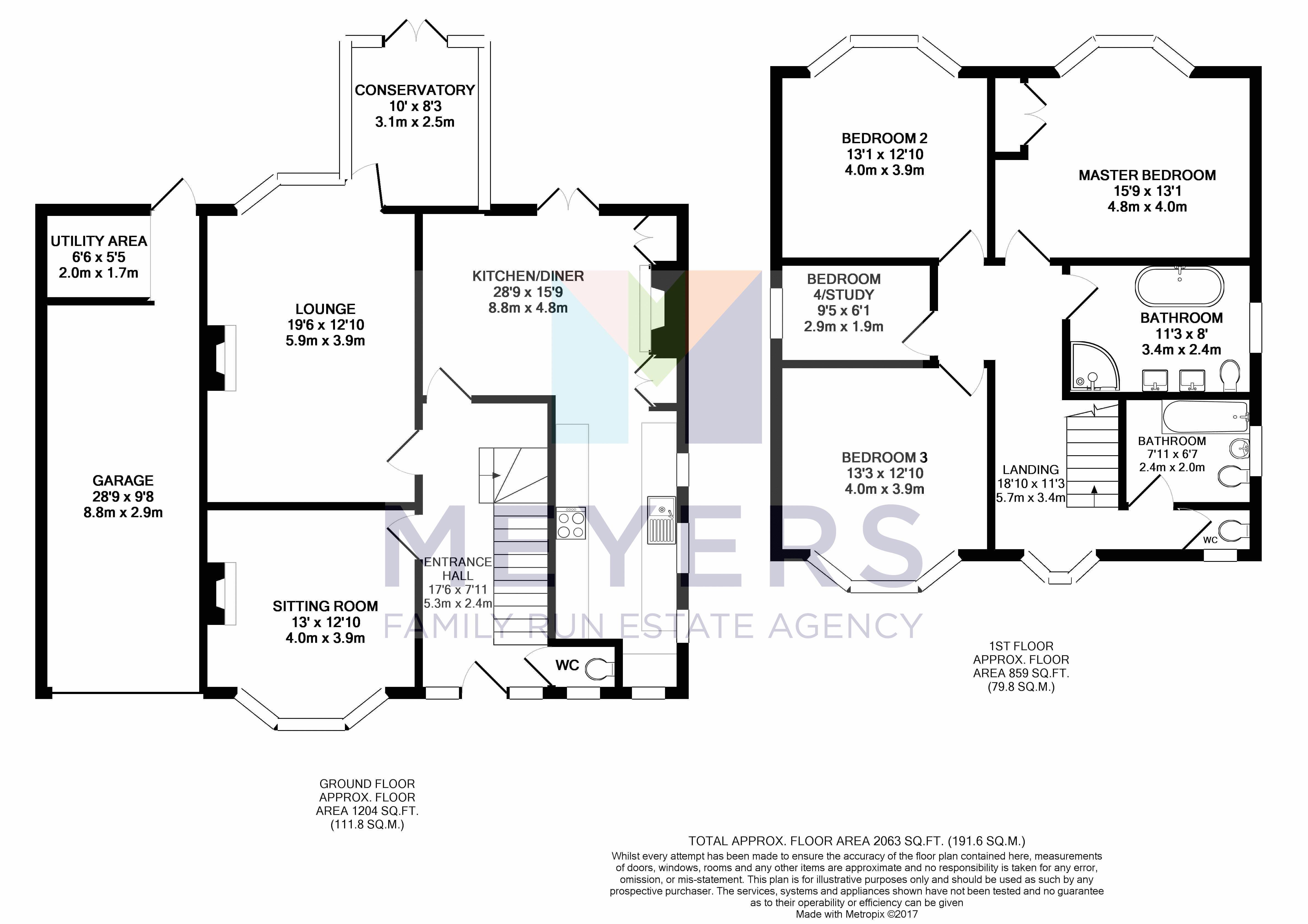 4 bed house for sale in St Ledgers Road, Queens Park, BH8 - Property Floorplan