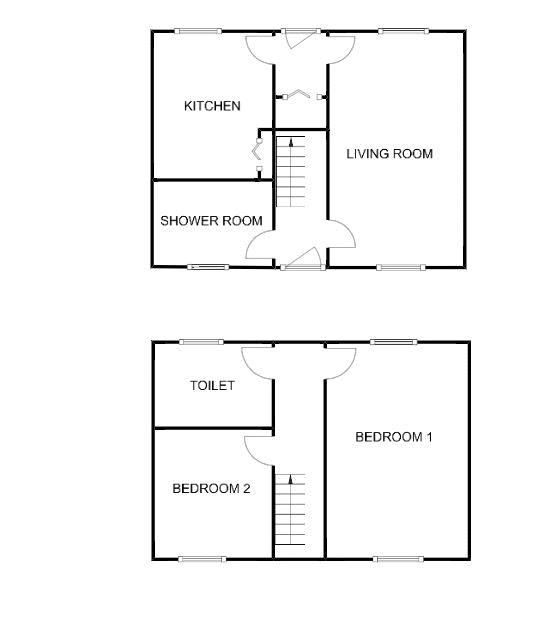 2 bed House for sale on Middle Chinnock - Property Floorplan
