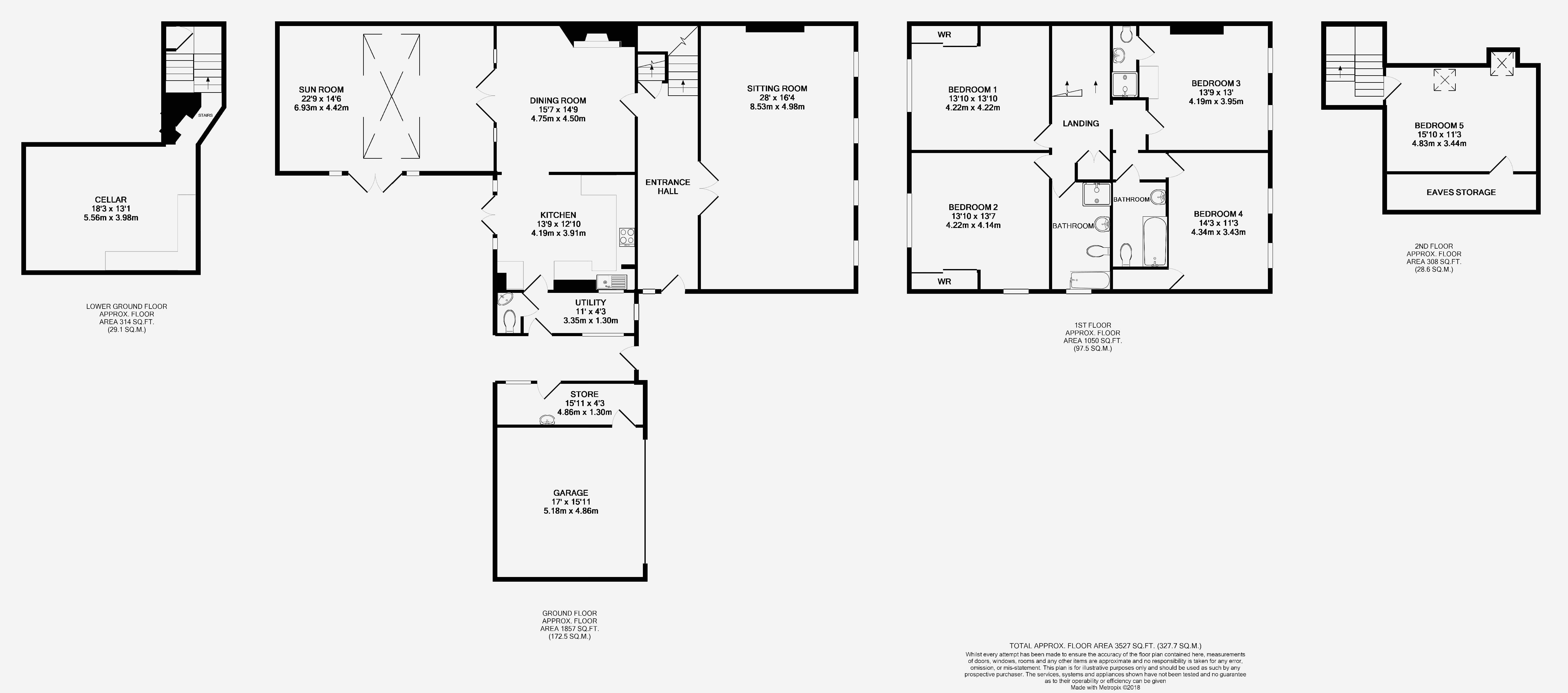 5 bed house for sale in Market Place, Somerton - Property Floorplan