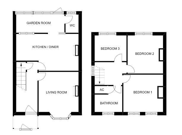 3 bed house for sale in Yeovil - Property Floorplan