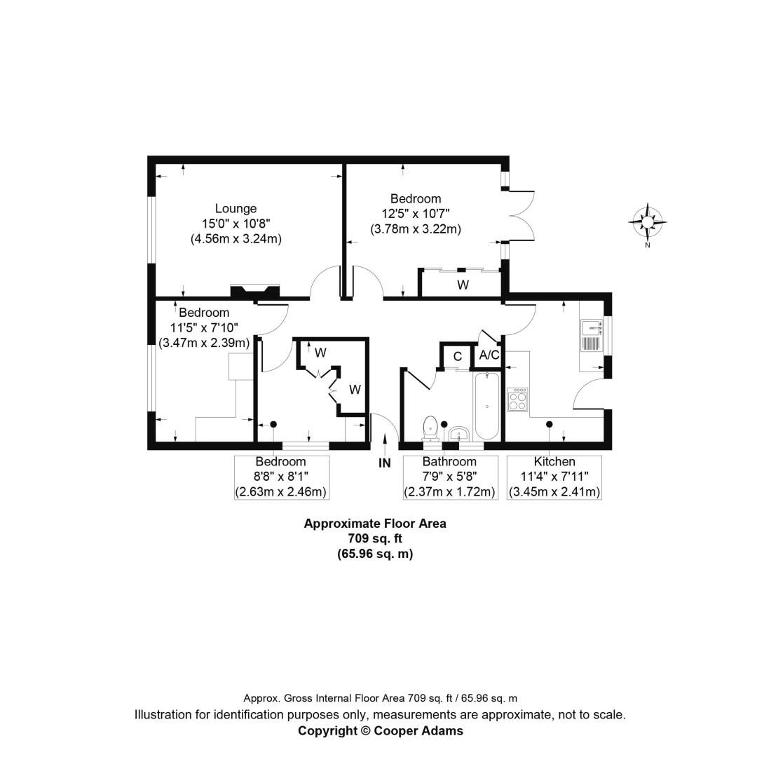 3 bed bungalow for sale in Greenacres Ring COMP SEPT 19 - Property Floorplan