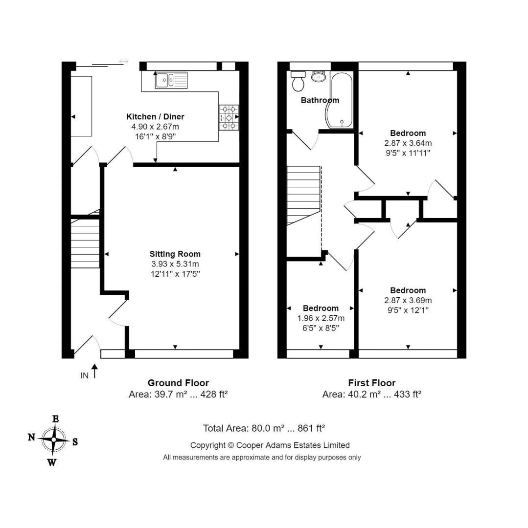 3 bed house for sale in Meadowside - Property Floorplan