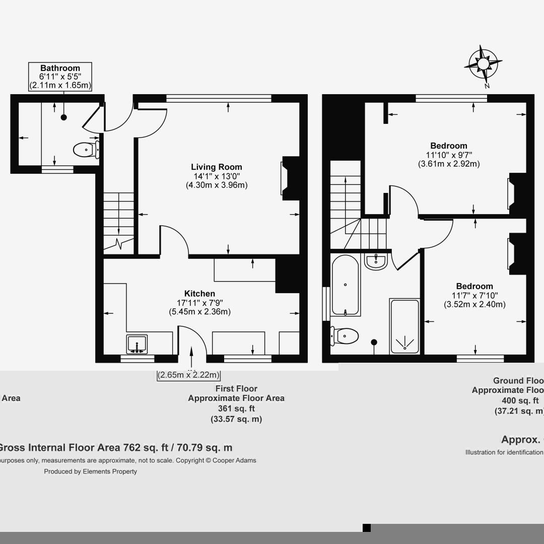 2 bed house for sale in The Street (COMP JULY 19) - Property Floorplan