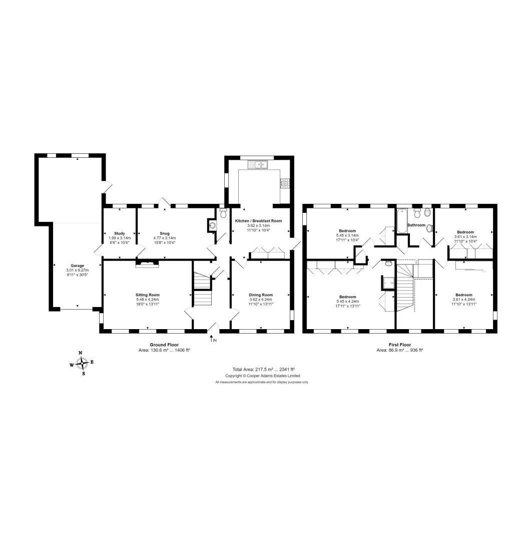 4 bed house for sale in Mill Road (COMP AUG 19) - Property Floorplan