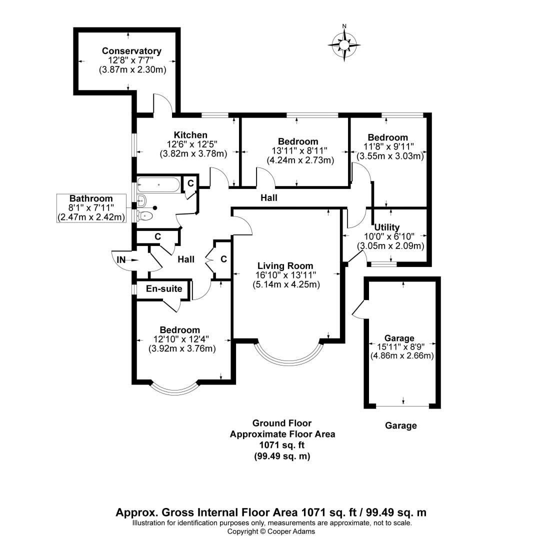 3 bed bungalow for sale in Vermont Drive - Property Floorplan