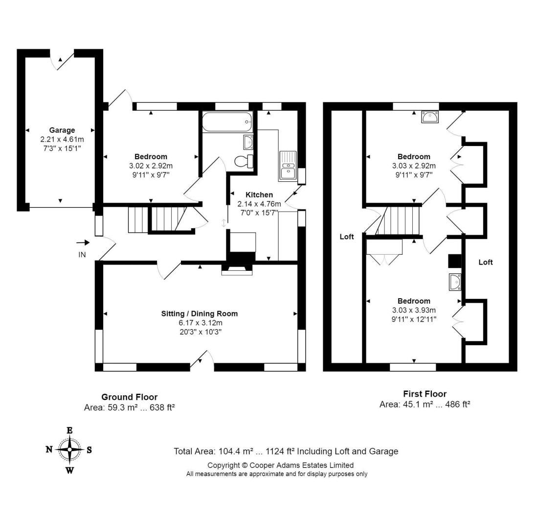 3 bed house for sale in Normandy Lane - Property Floorplan