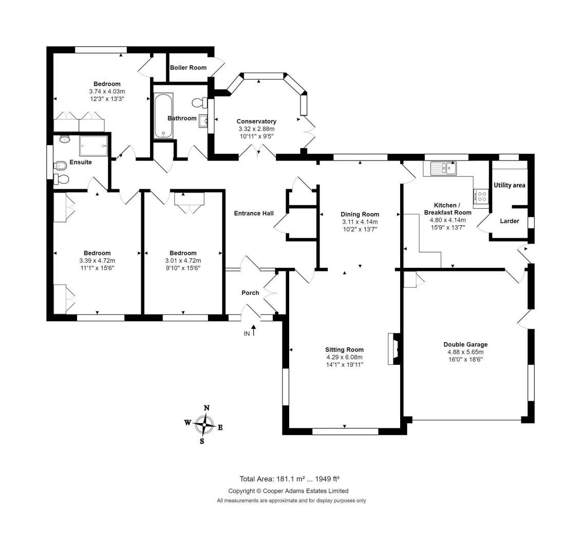3 bed Bungalow for sale in East Preston - Property Floorplan