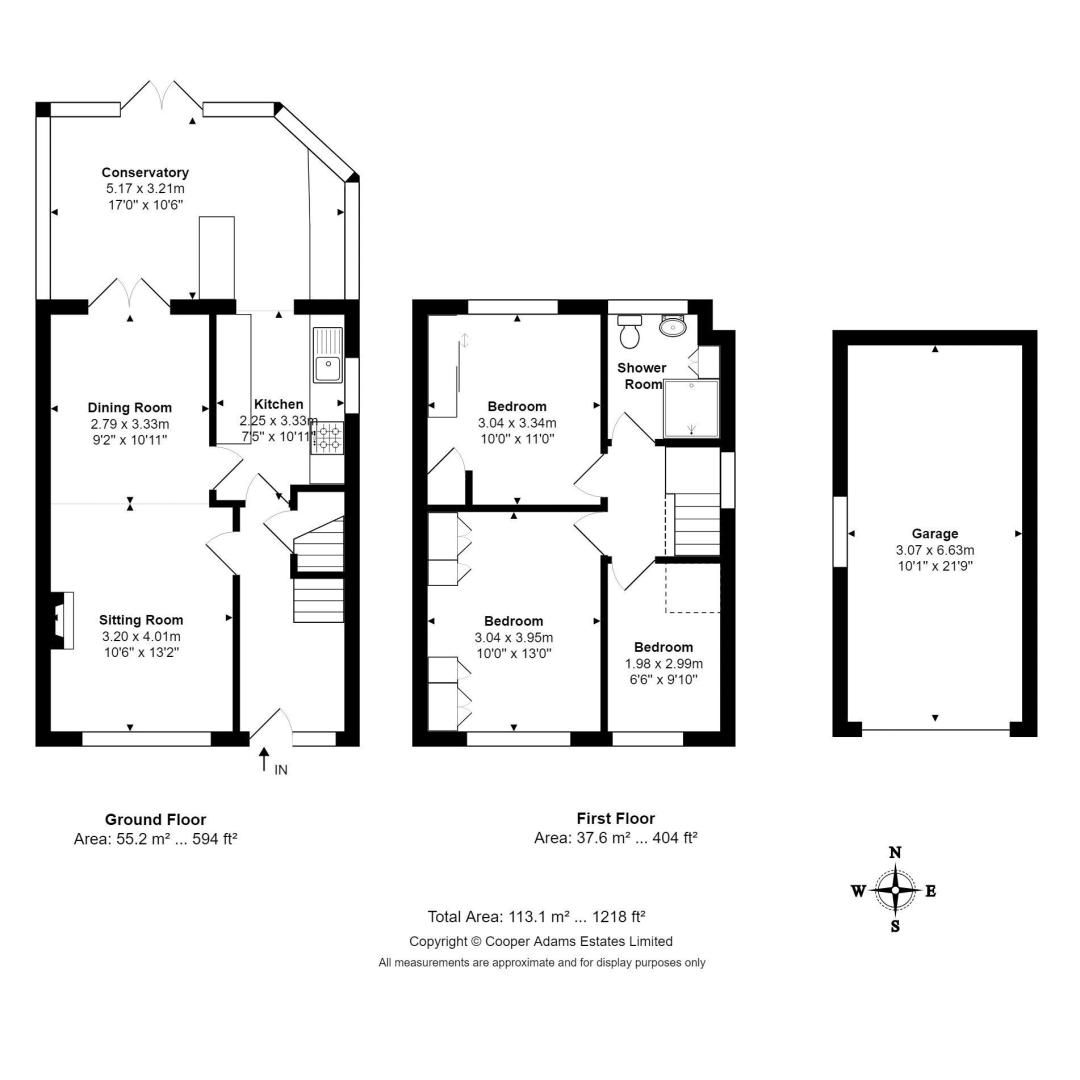 3 bed house for sale in Old Worthing Road - Property Floorplan