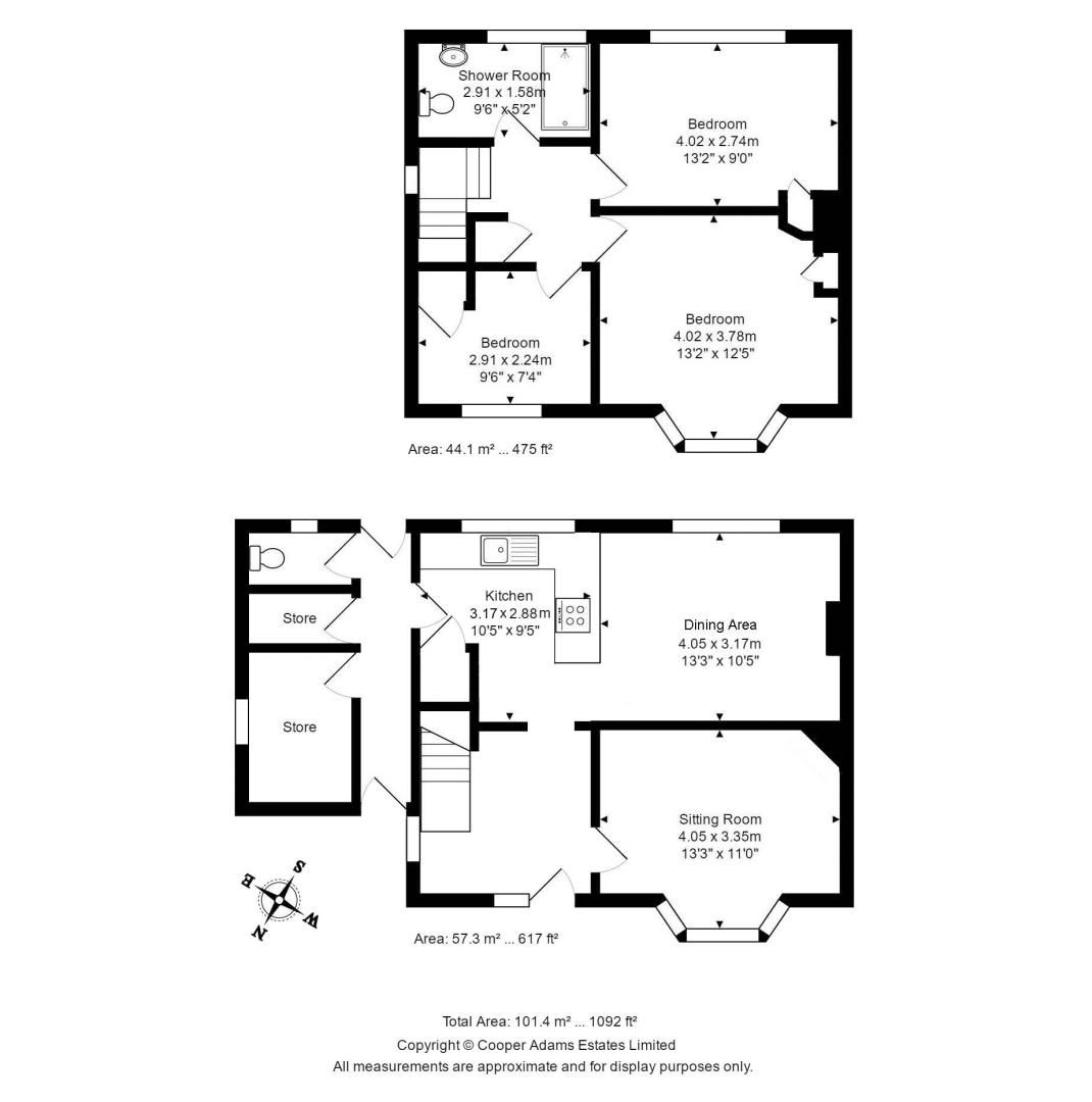 3 bed house for sale in Roundstone Crescent - Property Floorplan