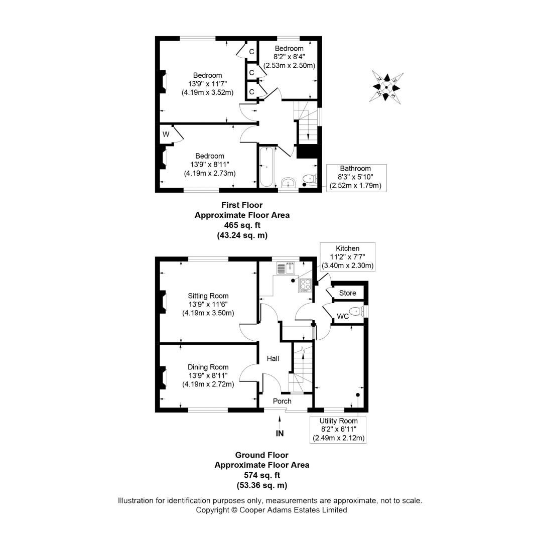 3 bed house to rent in Tack Lee Road - Property Floorplan