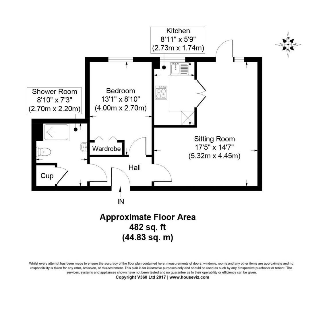1 bed for sale in East Preston - Property Floorplan