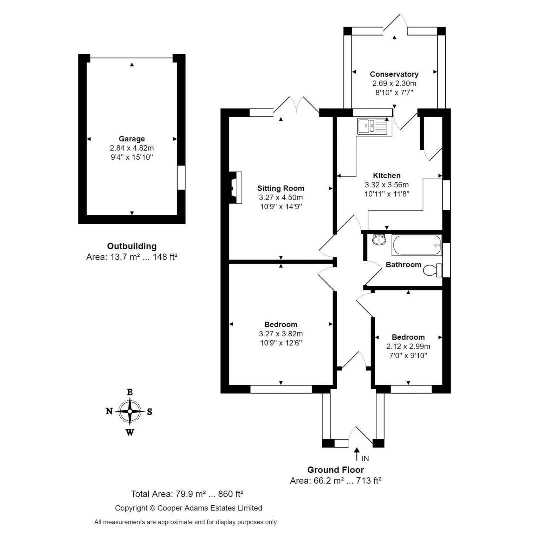 2 bed bungalow for sale in Ashurst Way COMP July 2019 - Property Floorplan