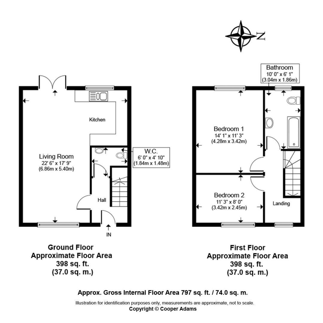 2 bed house for sale in Matrons Cottages - Property Floorplan